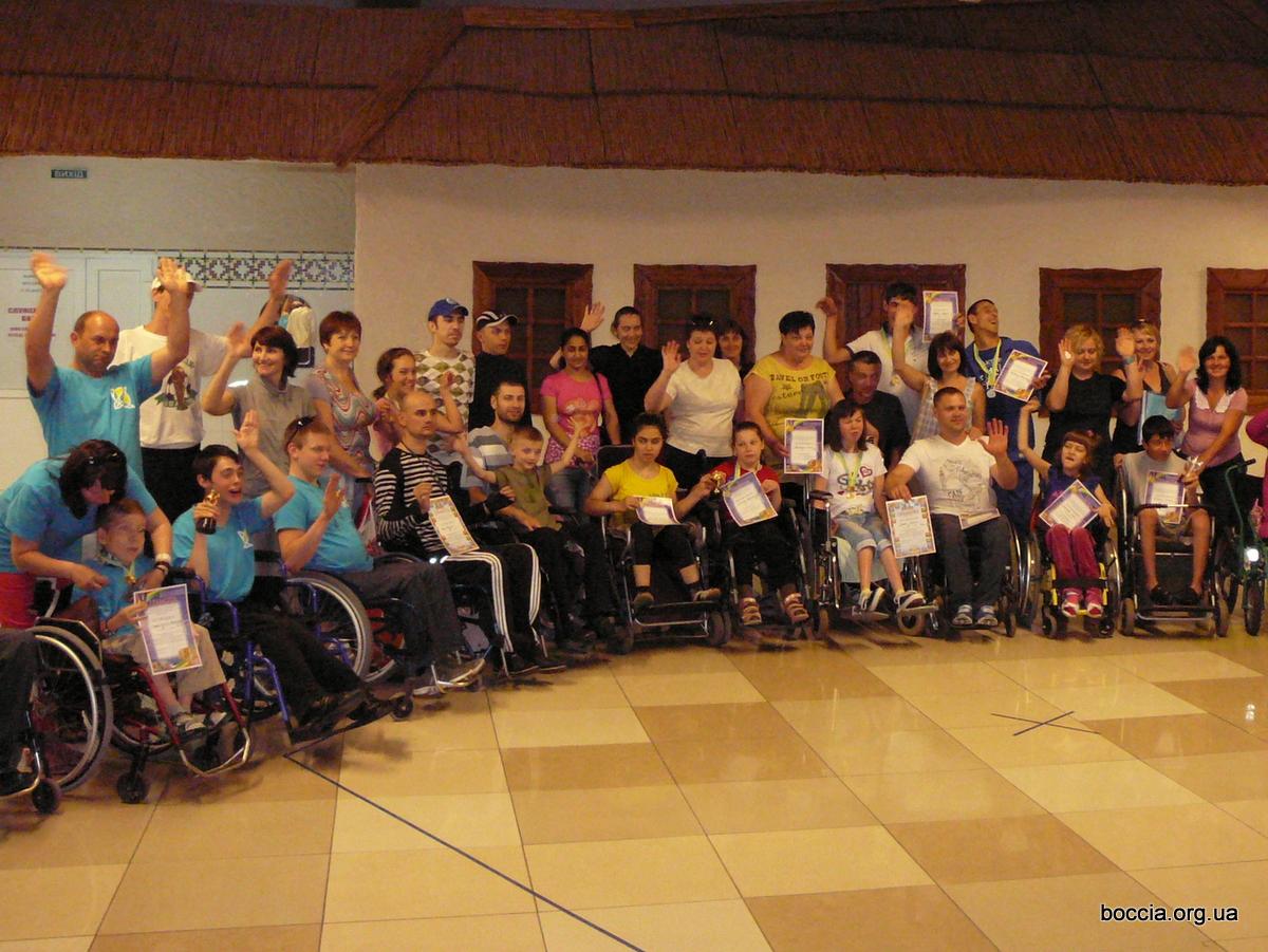 Участники Открытого кубка Новой Каховки по бочча 2014