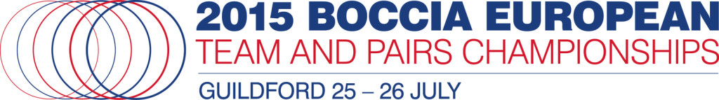 2015 Boccia European Team and Pairs Championships logo