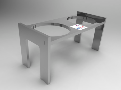 aluminium circumference testing template