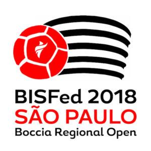 логотип BISFed 2018 Sao Paulo Boccia Regional Open