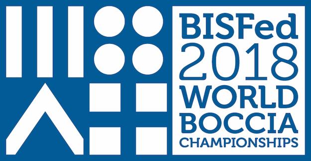 BISFed 2018 World Boccia Championships logo