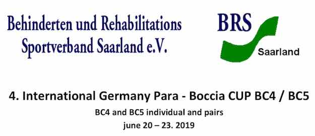 International Germany Para - Boccia CUP BC4 / BC5 cover