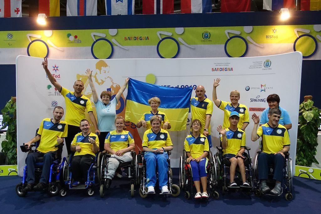 Ukraine boccia team Olbia 2019