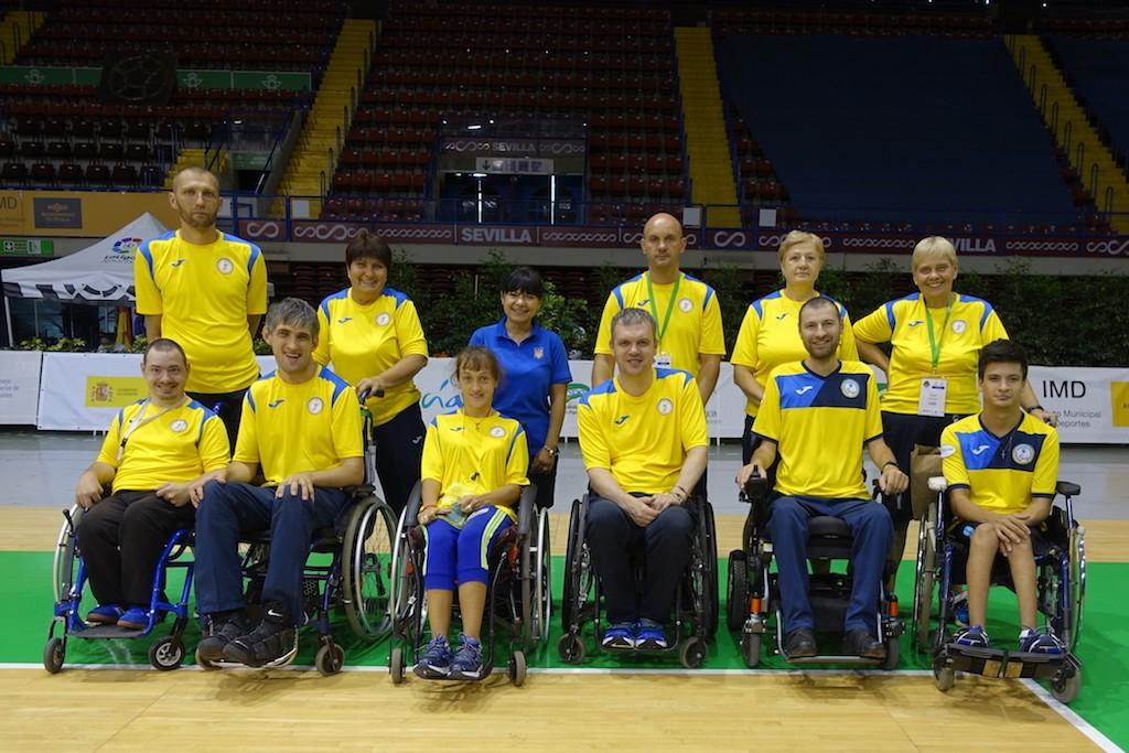 сборная Украины по бочча на чемпионате Европы по бочча 2019 в Севильи