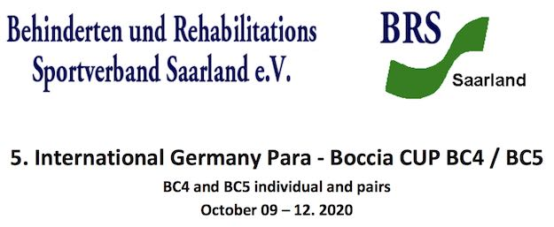 5. International Germany Para - Boccia CUP BC4 / BC5